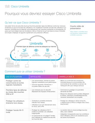 Pourquoi vous devriez essayer Cisco Umbrella