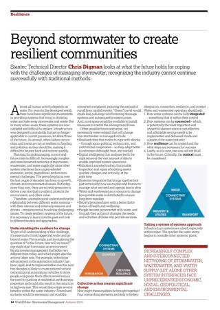 Published: Reaching beyond stormwater to create resilient communities