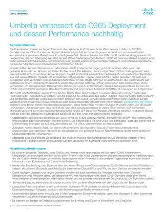 Umbrella verbessert das O365 Deployment und dessen Performance nachhaltig