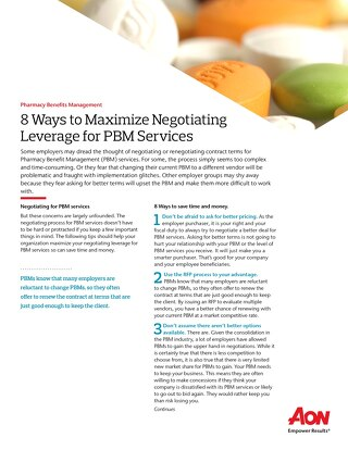 8 Ways to Maximize Negotiating Leverage for PBM Services
