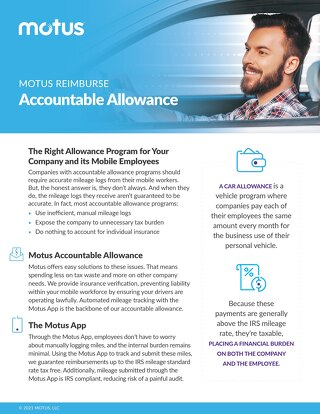 Motus Reimburse: Accountable Allowance