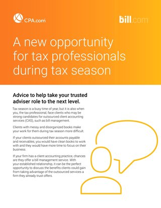 Tip Sheet for finding CAS clients during Tax Season
