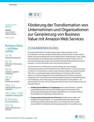 Whitepaper: Förderung der Transformation von Unternehmen und Organisationen zur Generierung von Business Value mit AWS