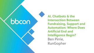AI, Chatbots & the Intersection Between Fundraising, Support and Automation