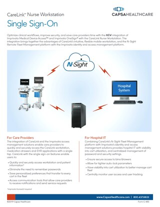 Capsa CareLink and Single Sign-On