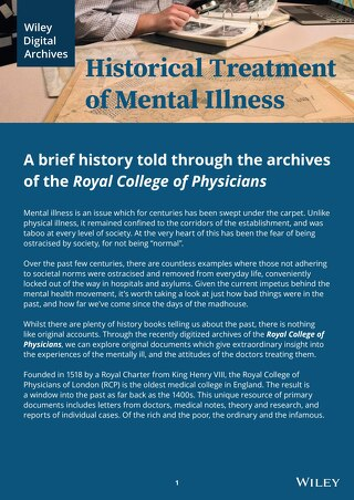 The Historical Treatment of Mental Illness