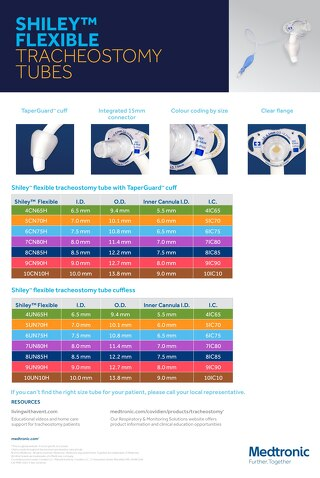 SHILEY™ FLEXIBLE TRACHEOSTOMY TUBES