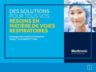 Catalogue de produits d'intubation Shiley et McGRATH MAC