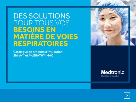 Catalogue de produits d'intubation Shiley et McGRATH MAC