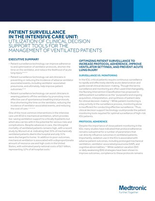 PATIENT SURVEILLANCE IN THE INTENSIVE CARE UNIT: UTILIZATION OF CLINICAL DECISION SUPPORT TOOLS FOR THE MANAGEMENT OF VENTILATED PATIENTS