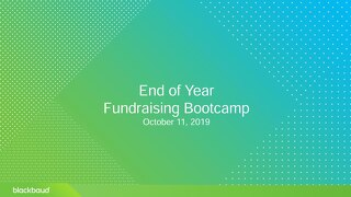 Chicago EOY Fundraising Bootcamp Master Deck