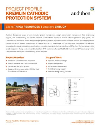 Kremlin Cathodic Protection System - Project Profile