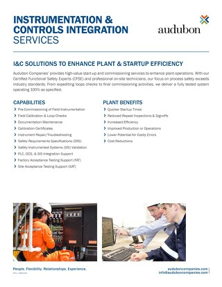 Instrumentation & Controls Integration Services