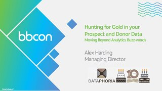 Hunting for Gold in your Prospect and Donor Data