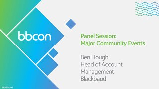 Panel Session: Major Community Events