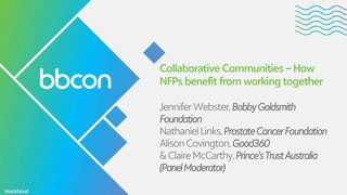 Collaborative Communities – How NFPs are Benefiting by Working Together