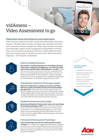 Video Assessment Infoflyer