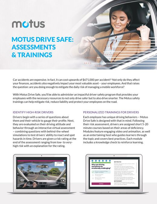 Motus Drive Safe: Assessments & Trainings
