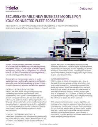 Datasheet: Keystone for Trucking Fleets