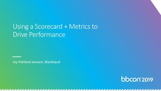 Using a Scorecard + Metrics to Drive Performance
