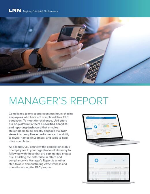 Manager's Report Factsheet