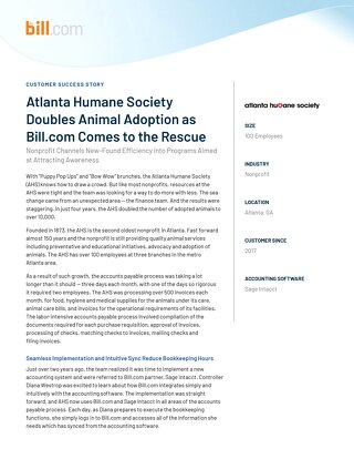 Case Study-  Atlanta Humane Society