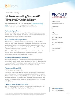 Case Study - Noble Accounting