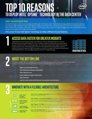 Reasons to Deploy Intel Optane Technology in the Data Center