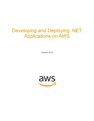 Developing and Deploying .NET Applications on AWS