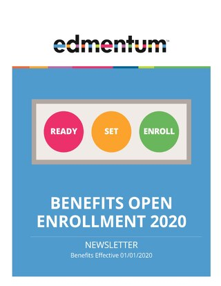 HR Benefits Open Enrollment Newsletter 2020