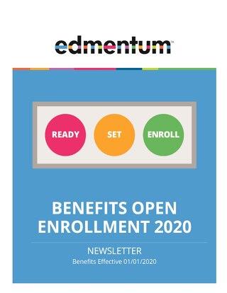HR Benefits Open Enrollment Newsletter 2020