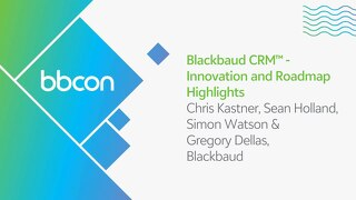 Blackbaud CRM Innovation and Roadmap