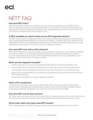 NET1 FAQ