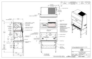 [Drawing] LabGard NU-543-400E Class II Microbiological Safety Cabinet (230V)