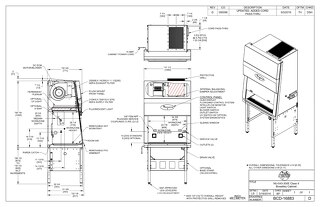 [Drawing] LabGard NU-543-300E Class II Microbiological Safety Cabinet (230V)