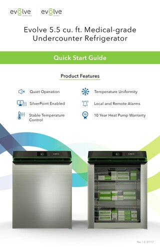 Medical-Grade Undercounter Refrigerator Quick Start Guide