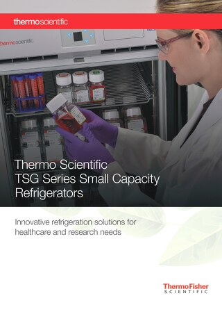 TSG Small Capacity Refrigerators Brochure