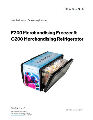 C200 & F200 Installation and Operating Manual