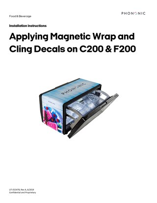 C200 & F200 Instructions for Applying Magnetic and Cling Decals