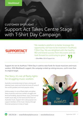 Campaign Spotlight: AusMusic T-Shirt Day