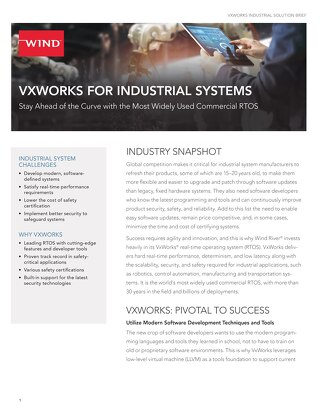 VxWorks for Industrial Solution Brief
