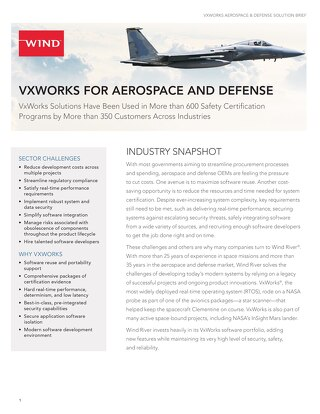 VxWorks for Aerospace and Defense Solution Brief