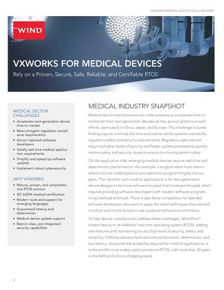 VxWorks for Medical Devices Solution Brief