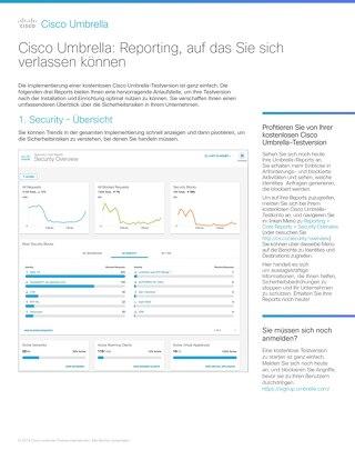 Cisco Umbrella - Reporting, auf das Sie sich verlassen können