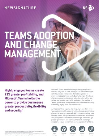 Microsoft Teams Adoption and Governance Flyer 2019