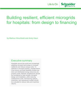WP 2-Hospital microgrid design finance