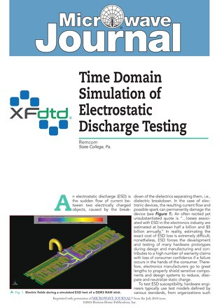 Time Domain Simulation of Electrostatic Discharge Testing