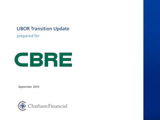 Slides: CBRE LIBOR Transition Training 9-24-19