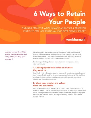 Checklist: 6 Ways to Retain Your People
