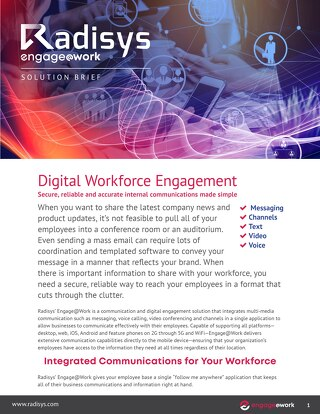 Radisys Engage@Work - Workforce Engagement